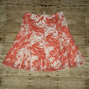 JCrew floral A-line swing skirt, size 6